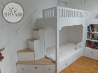 Antresola - łóżko dziecięce białe 1