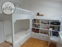 Antresola - łóżko dziecięce białe z biurkiem
