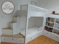 Antresola - łóżko dziecięce białe 2