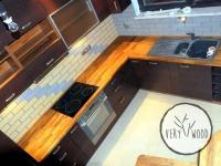 kuchnia wenge z teakowym blatem - very wood