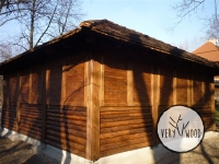 wiata garażowa kryta gontem2 - very wood