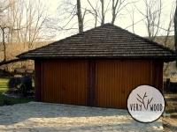 wiata garażowa kryta gontem6 - very wood