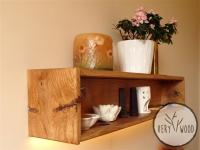 d_półka dębowa z oświatleniem LED - very wood