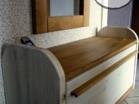 drewniana szfka na buty z lustrem1-very wood