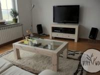 sosnowa szafka TV ze stolikiem kawowym - very wood