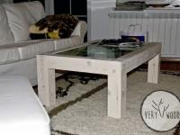 stolik kawowy sosnowy bielony - very wood
