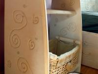 bielona szafka nocna z litego drewna-very wood