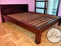 garderoba z drewnianym łóżkiem5 - very wood
