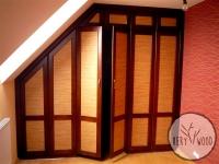 gabinet z garderobą i biblioteczką - very wood-1