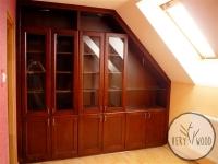 gabinet z garderobą i biblioteczką1 - very wood-1